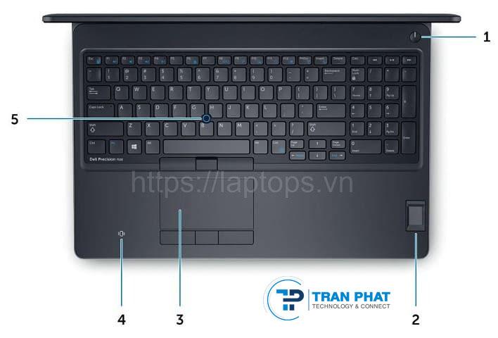 Bàn phím êm ái và mượt mà của Dell Precision 7520