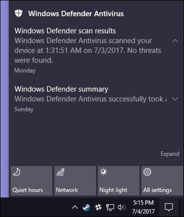 cách sử dụng windows defender trong win 10