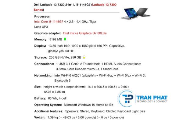 Dell Latitude 7320 - laptop giá rẻ
