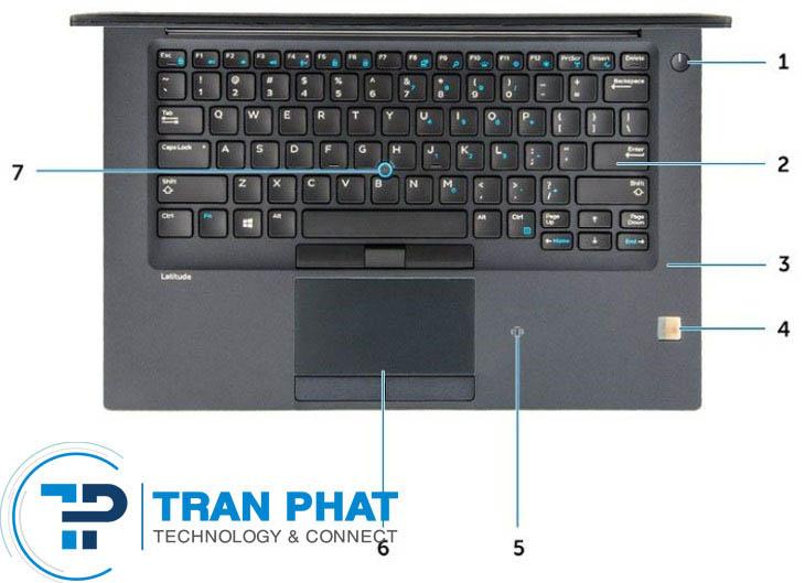 Bàn phím và touchpad của Laptop Dell Latitude 7480 giá rẻ