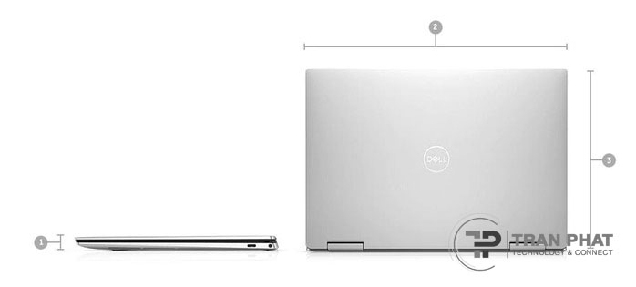 Thiết kế mặt sau của XPS 13 2 in 1