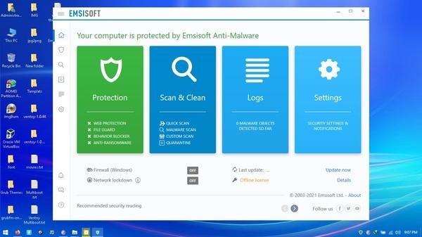 Phần mềm diệt vi rút Emsisoft Anti-Malware
