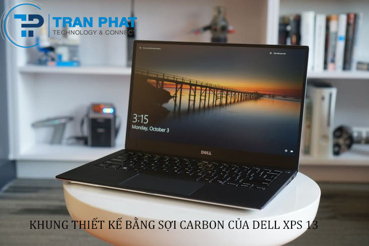 Khung thiết kế của laptop Dell XPS 13 2017