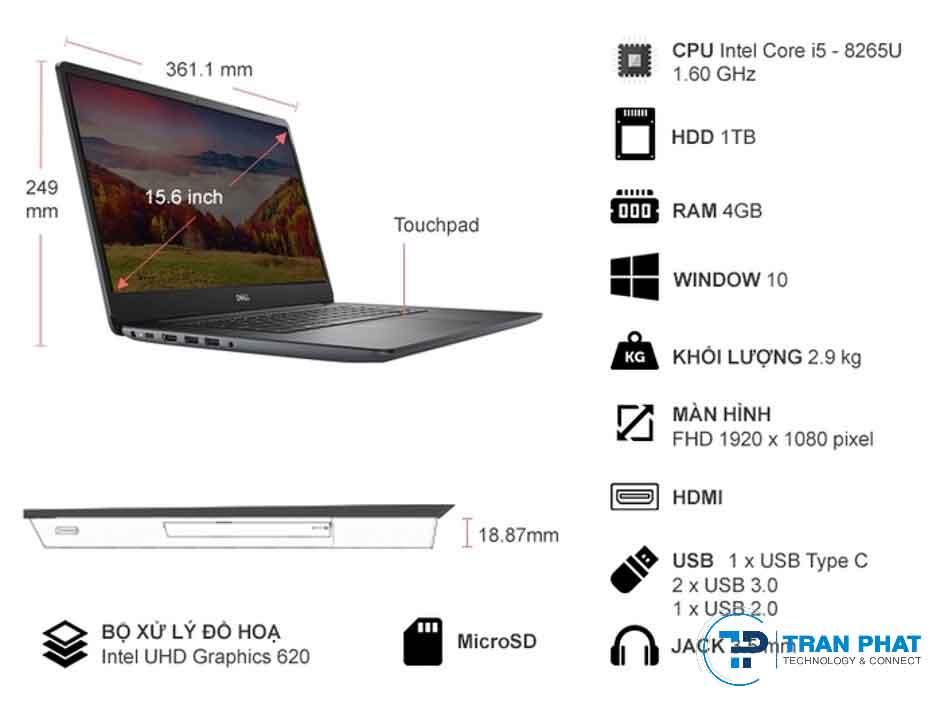 Laptop Dell Vostro 5581 tphcm