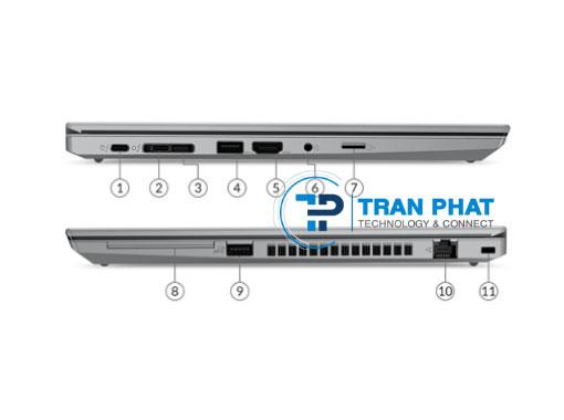 ThinkPad T14 Gen 2 được trang bị đầy đủ các cổng kết nối