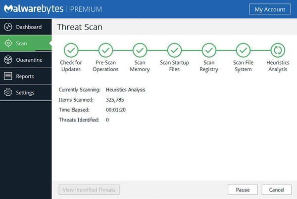 Phần mềm diệt virus tốt nhất Malwarebytes Premium