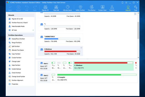 Phần mềm AOMEI Partition Assistant