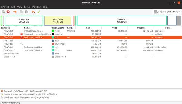 Phần mềm chia ổ cứng GParted