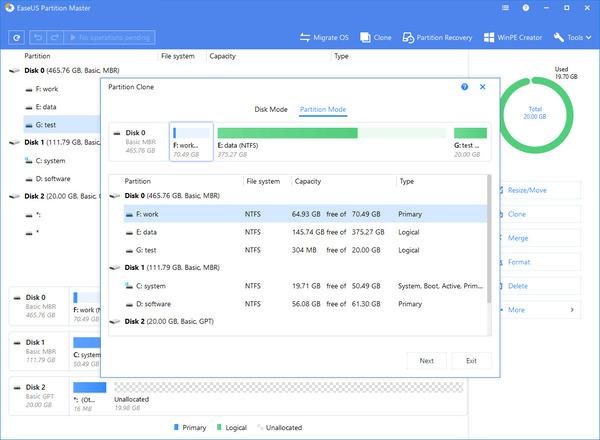 Phần mềm EaseUS Partition Master